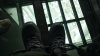 天望デッキ ガラス床(車椅子目線)
