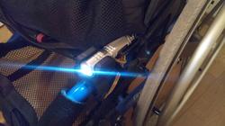 車椅子に装着したライト GP-6SV その1
