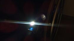 車椅子に装着したライト GP-6SV その2