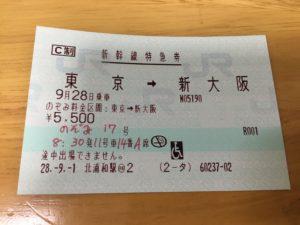 新幹線特急券 車椅子