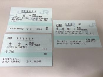 新幹線切符(車椅子席)