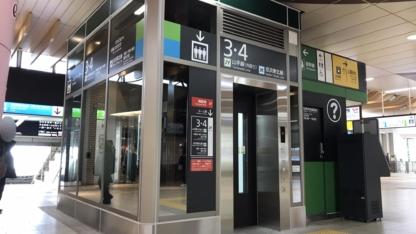 上野駅 新エレベーター(コンコース側)