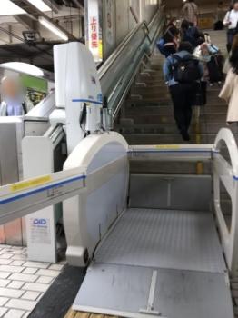上野駅工事中エスカル1