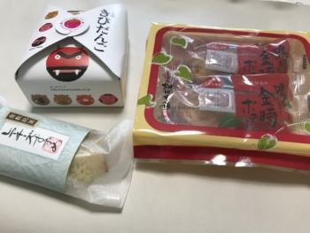 きびだんご・倉敷すずめ・鳴門金時ポテト