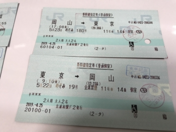 新幹線多目的室(個室)指定席券
