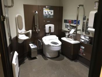 E6系多目的トイレ(内部)