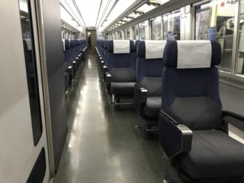255系(車椅子席)