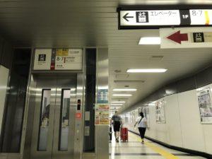 新宿駅エレベーター(A地点)
