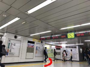新宿駅エレベーター(E地点)